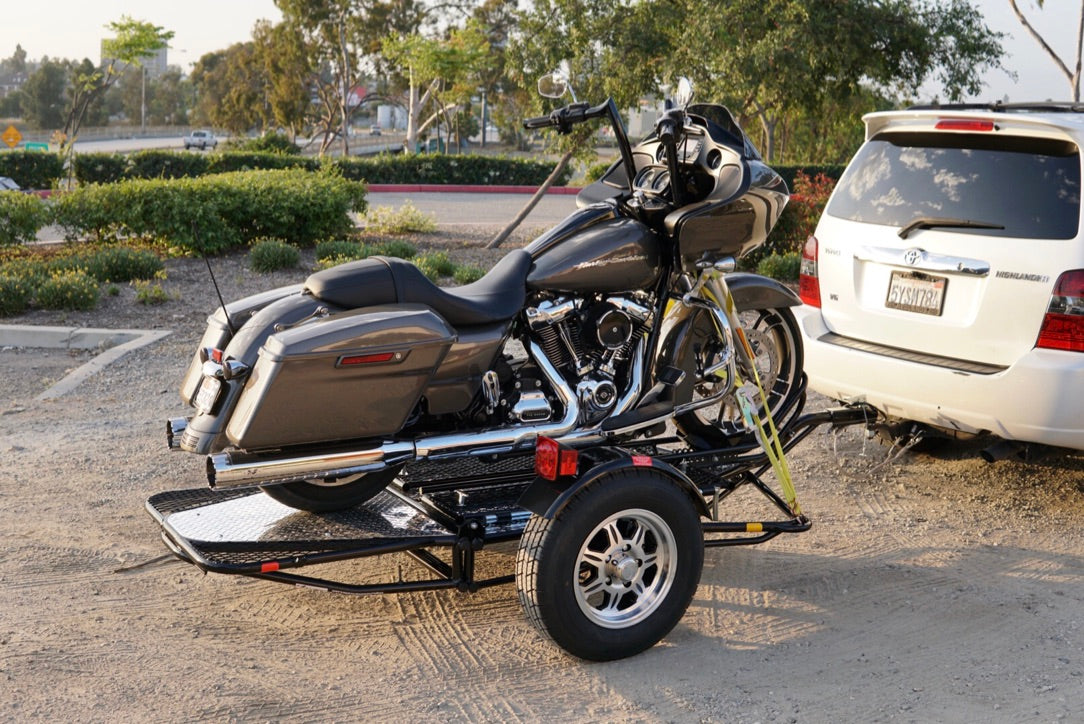 Single rail motorcycle trailer. the be stand up motorcycle trailer money can buy