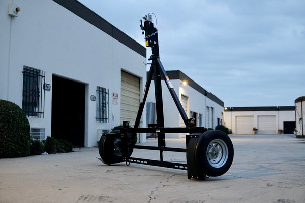 stand up tow dolly with surge disc brakes, how to use car tow dolly, powder coated stores vertically better than galvanized tow dolly