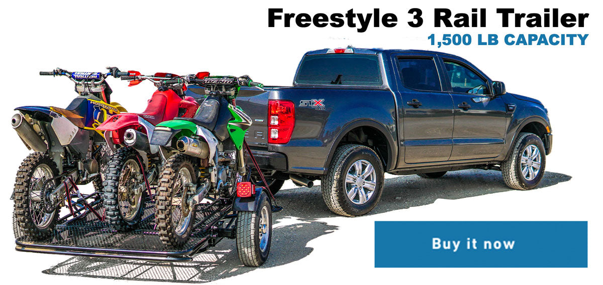 DIRT BIKE MOTORCYCLE TRAILER - SCOOTER TRAILER STAND UP