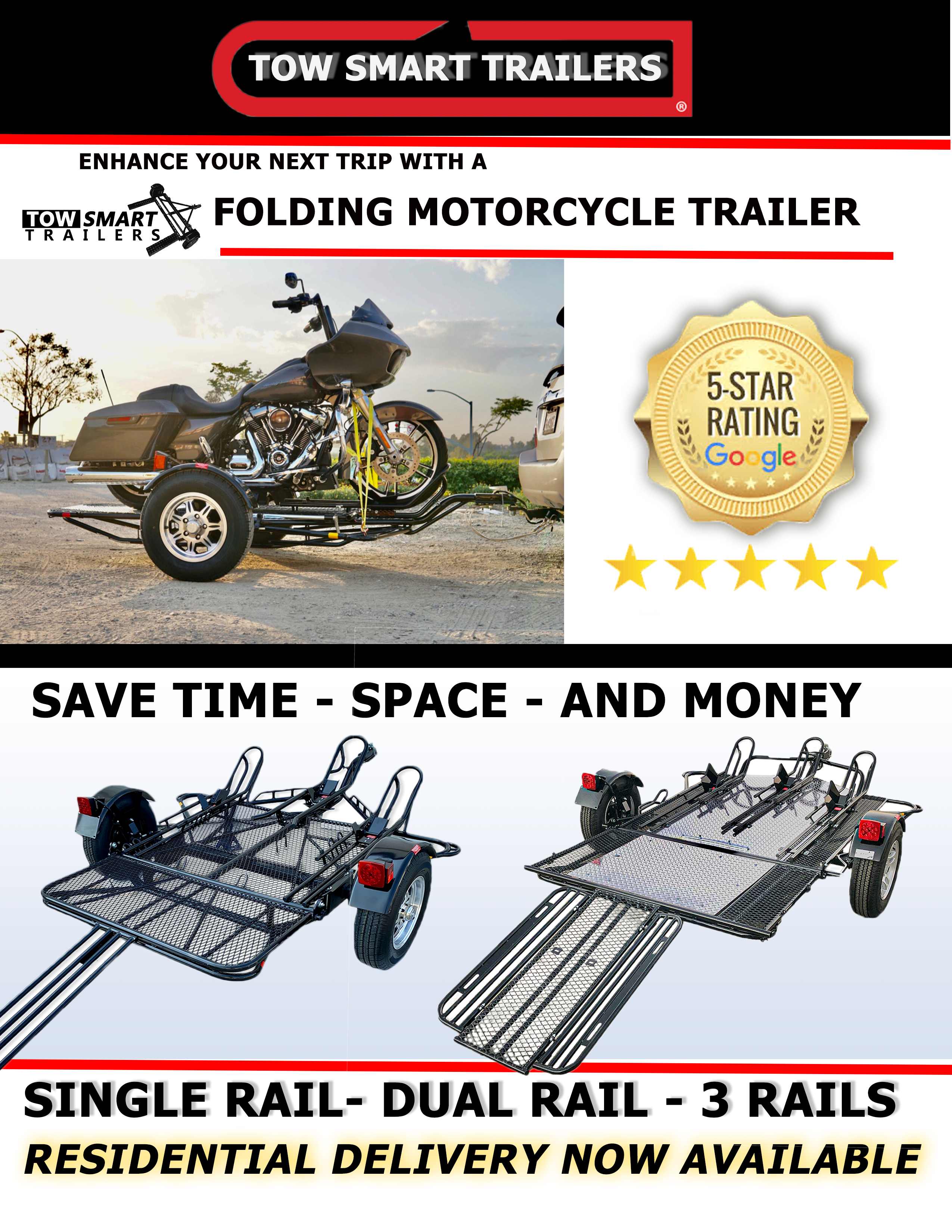 motorcycle trailer- tow smart trailers collection page - kendon motorcycle trailers