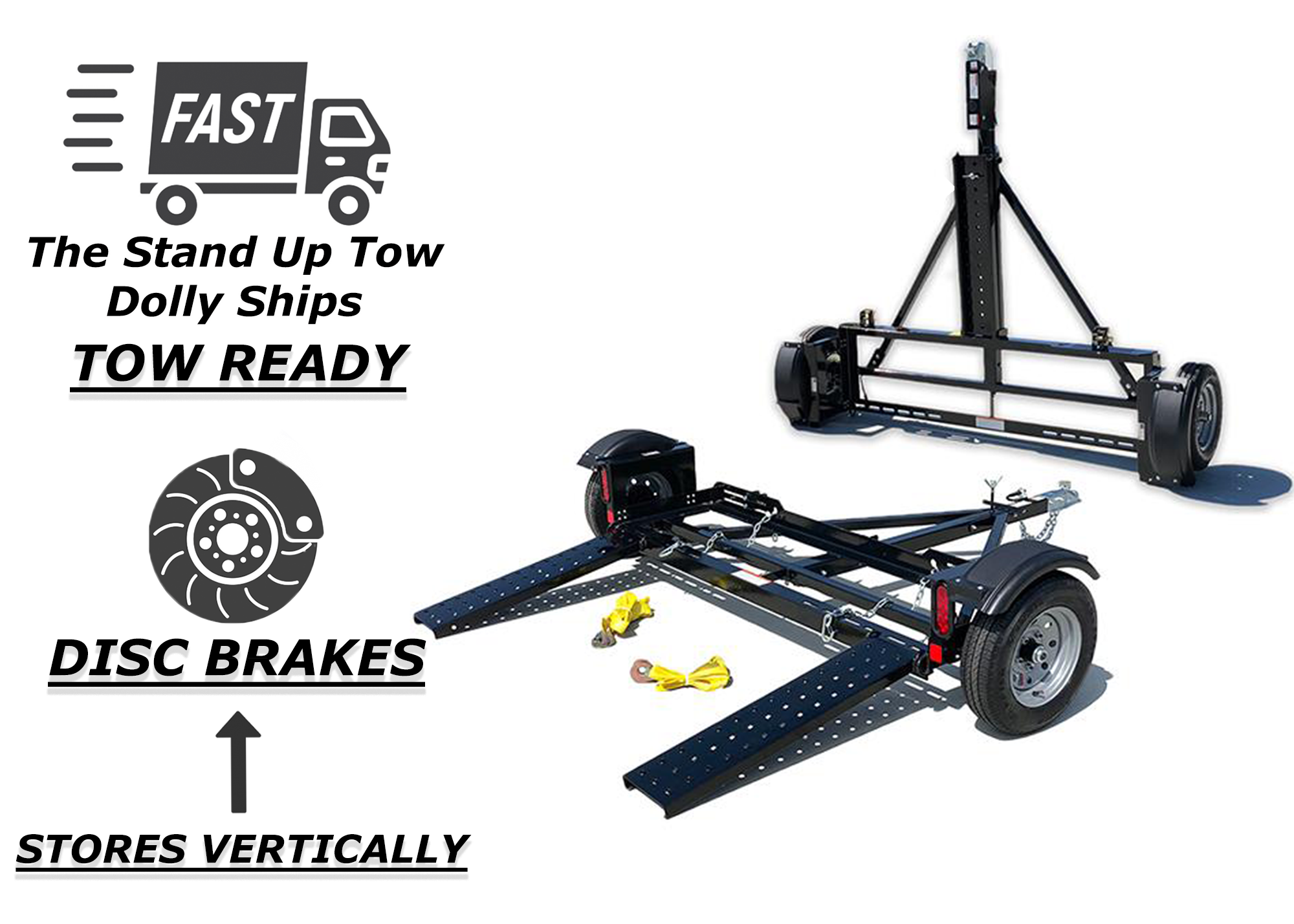 CAR TOW DOLLY STAND UP IS SHIPPED FULLY ASSEMBLED CUSTOMER SATISFACTION