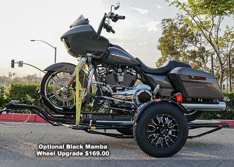 Stand out with a single rail motorcycle trailer, great for dirt bikes cruisers or sport bikes. bike trailer