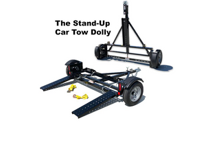 Stand up EZe Tow Dolly Trailer, A tow dolly that stands for storage