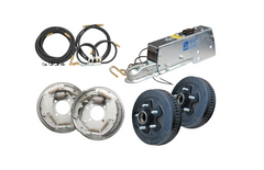 Surge brake kit for car tow dolly