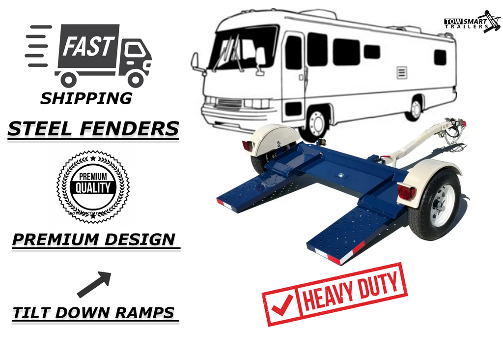 Car Tow Dolly is the perfect motorhome partner. This unit is compared to a demco kar kaddy roadmaster and Tow Master Dolly