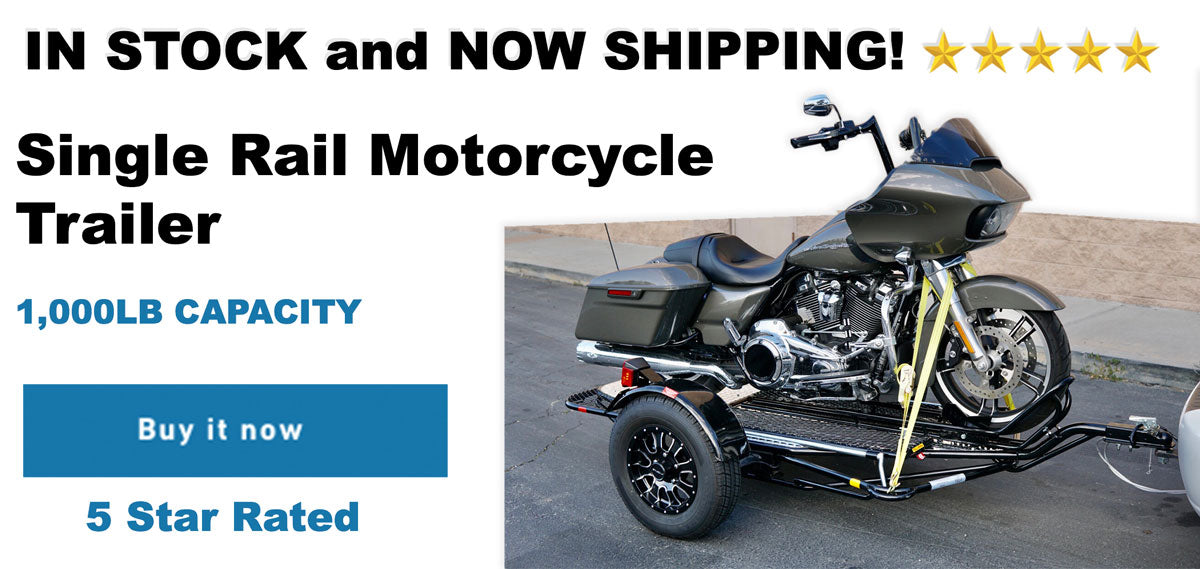 The single rail stand up motorcycle trailer along with stand up motorcycle trailer for harley or dirt bike