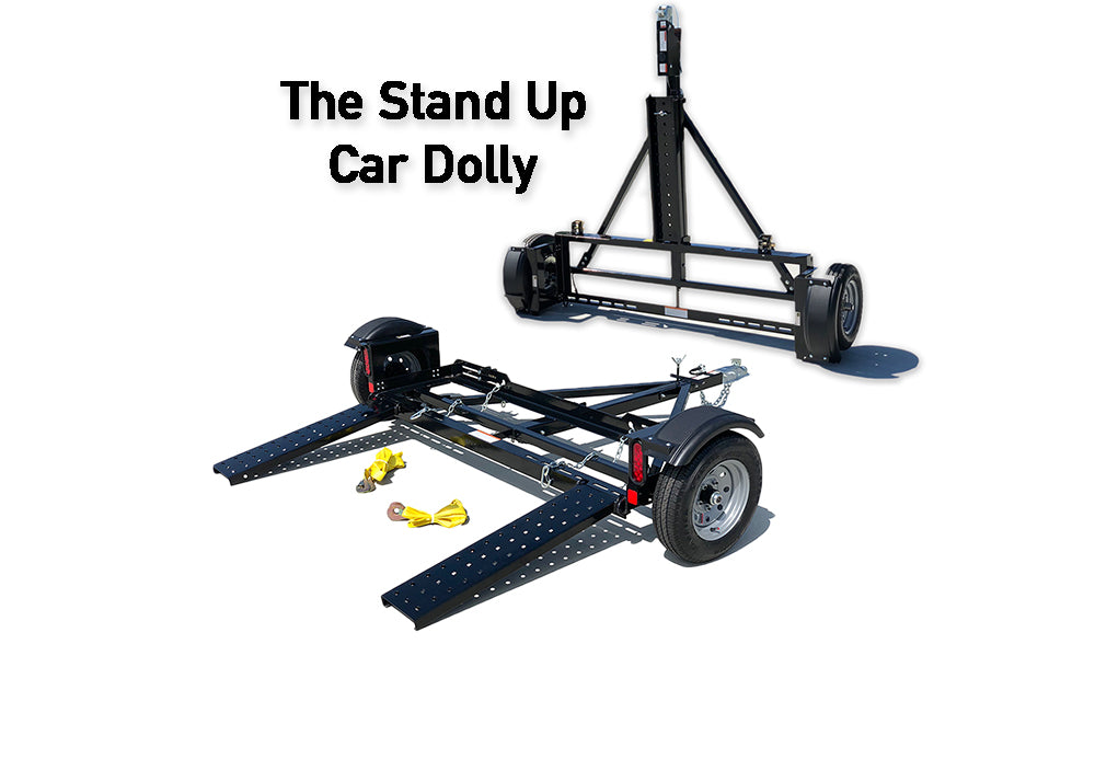 stand up car tow dolly trailer