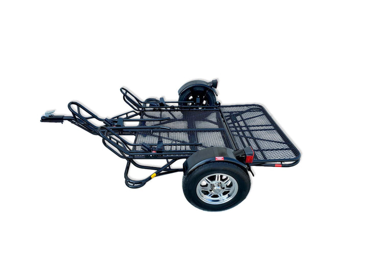 Three-Rail Folding Stand-out Dirt Bike Trailer, Sport Bike and Scooter Trailer light weight aluminum bike trailer