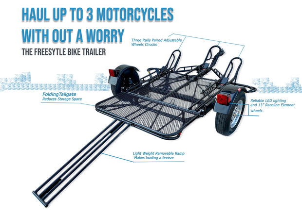 Stand up DIrt bike trailer for all motorcycles