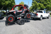 Fold up Side By Side RZR trailer fold and store away easy