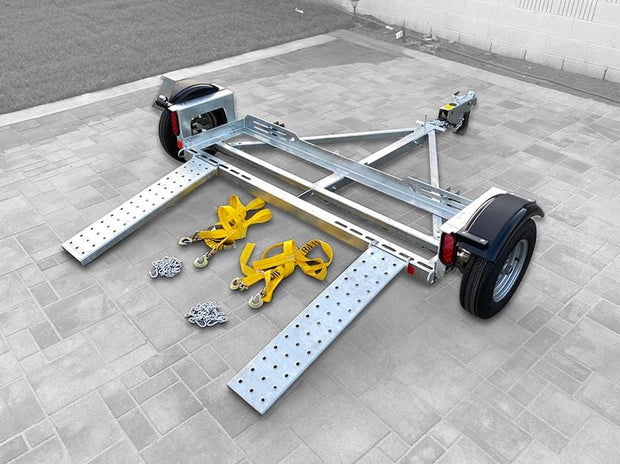Galvanized Acme Car Tow Dolly - Stand up car dolly - cartowdolly.com car hauler car dollies for sale