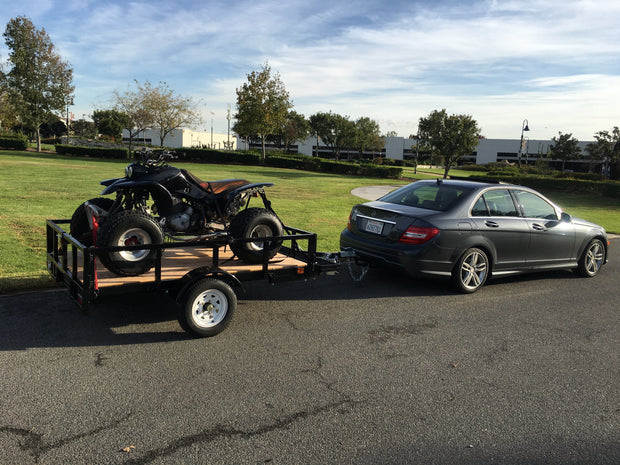 Quad trailer with Mercedes Benz