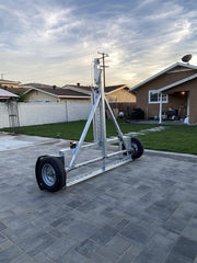 Tow Dolly Standing vertical - Ready to use car dolly Surge brake tow dolly standing up