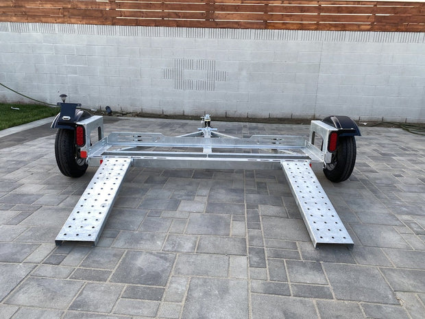 Galvanized Stand Up Car Tow Dolly