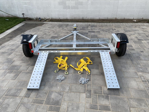 Tow dolly with surge brakes - Disc Brake car dolly for sale - Heavy duty tow dolly surge brakes included dexter brakes
