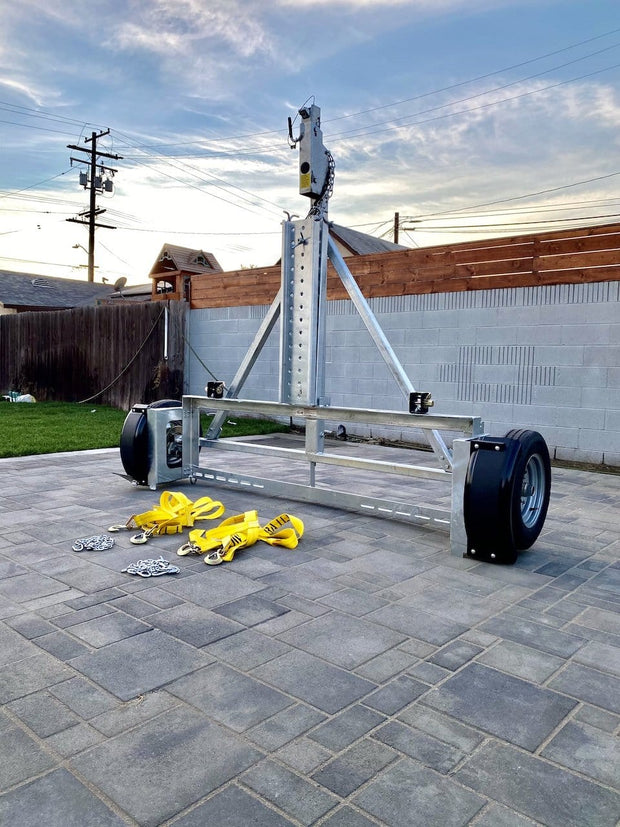 Stand up car tow dolly with surge brakes - Galvanized car dolly with surge brakes - heavy duty car tow dollies trailer demco kar kaddy ss trailer stand up ken don trailers for sale