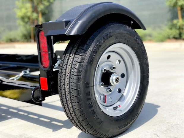 Radial wheel and tire combo for the Stand Up Car Tow dolly Rim and tire 5 on 4.5 bolt pattern