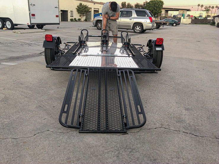 Three Rail Motorcycle Trailer