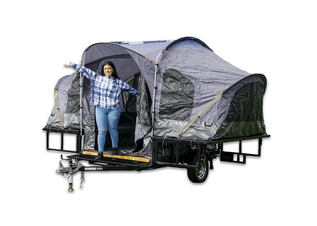 CAMPING pop up tent trailer , camping tent trailer foldable utility trailer karavan and elite trailer