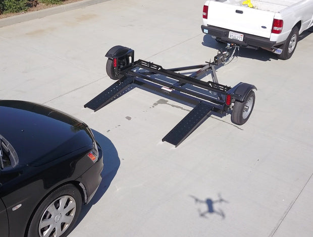 Standup EZ haul Car Tow Dolly with Vehicle