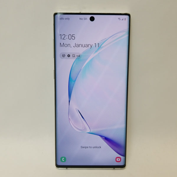 Unlocked Samsung	Galaxy Note 10 256GB White SM-N970U1