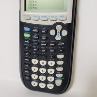 TEXAS INSTRUMENTS (TI-84 PLUS) GRAPHING CALCULATOR - BLACK W/ COVER