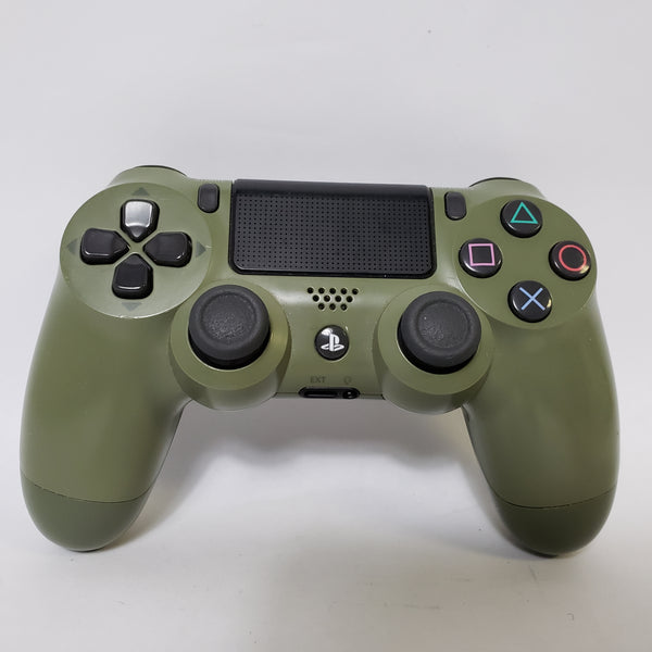 GENUINE SONY PS4 DUALSHOCK 4 WIRELESS CONTROLLER ARMY GREEN WWII EDITION