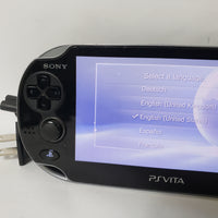 SONY PLAYSTATION VITA BLACK HANDHELD GAME SYSTEM - PCH-1001 W/ CHARGER!