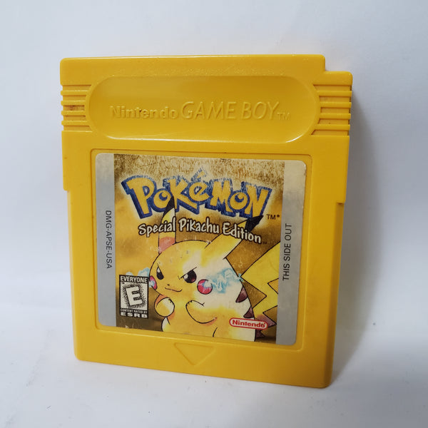 POKEMON YELLOW SPECIAL PIKACHU EDITION (GAME BOY, 1999) AUTHENTIC TESTED SAVES