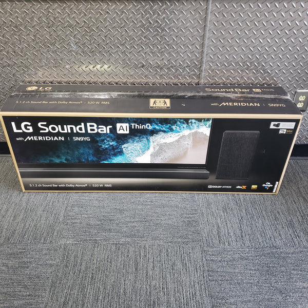 LG 5.1.2 AlThinQ Channel High Res Audio Sound Bar & Sub SN9YG Home Theatre