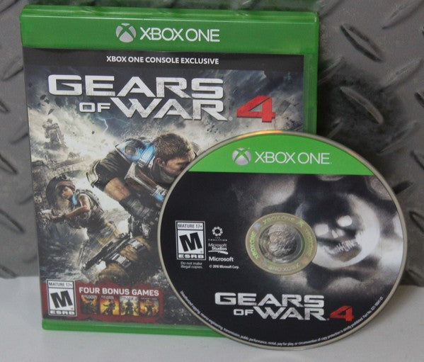 NICE!!! GEARS OF WAR 4 (MICROSOFT XBOX ONE, 2016) VERY GOOD CONDITION!
