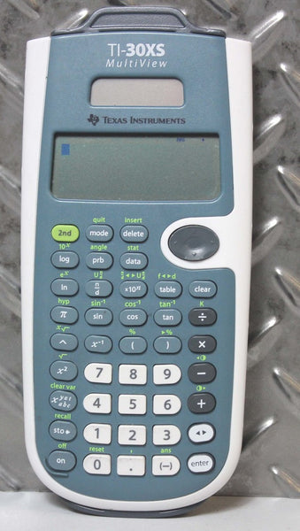 TI-30XS MULTIVIEW SCIENTIFIC CALCULATOR LCD TEXAS INSTRUMENTS W/ COVER
