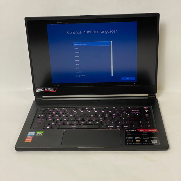 MSI GS65 STEALTH GAMING LAPTOP - 512GB SSD - 32GB -RAM 2.6 i7 - 240HZ