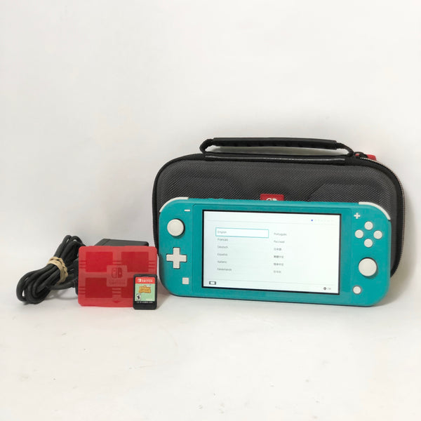 Nintendo Switch Lite Turquoise Complete Bundle W/ Animal Crossing HDH-001