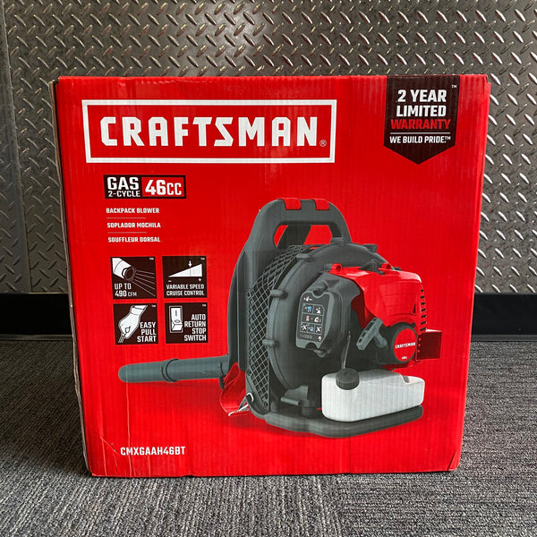BRAND NEW! Craftsman CM46BT 46cc 2-Cycle Gas Backpack Leaf Blower CMXGAAH46BT