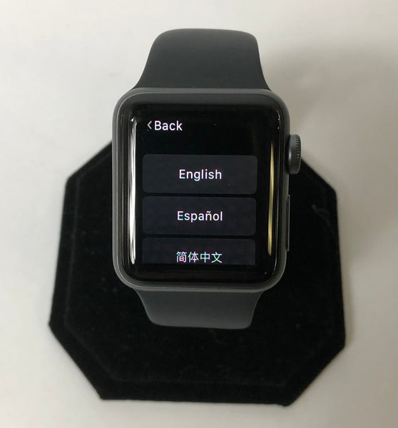 NICE! APPLE WATCH SERIES 3 38MM ALUMINUM GPS ONLY A1858 8GB SPACE GRAY APPLECARE!