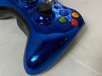 OEM MICROSOFT XBOX 360 WIRELESS CONTROLLER SHINY CHROME BLUE X859790-007