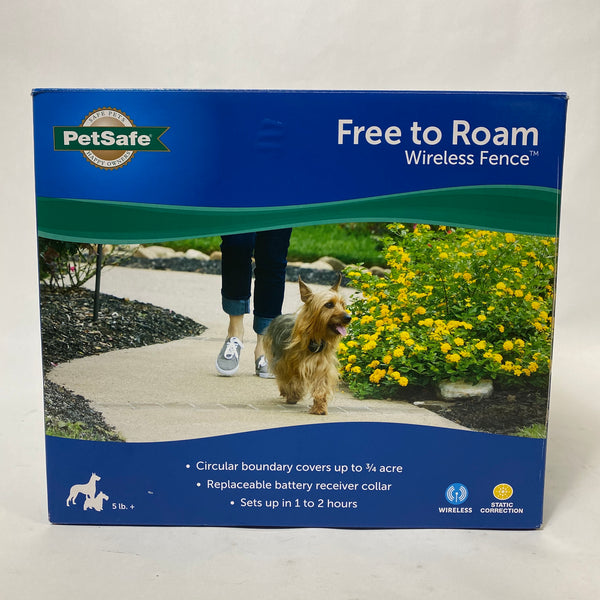 BRAND NEW!! PetSafe PIF00-15001 Free To Roam Wireless Fence 3/4 Acre