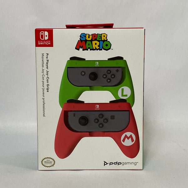 New! PDP Gaming Super Mario Pro Player Joy-Con Grips 500-075