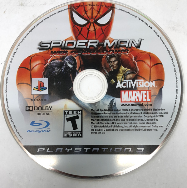Spider-Man Web of Shadows (Sony PlayStation 3, 2008)