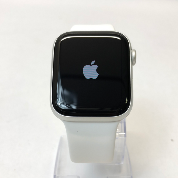GPS Wifi Only Apple Watch Series 6 44mm Silver Aluminum Case w White Sport Band A2292 M00D3LL/A
