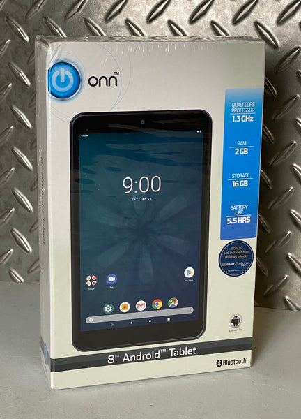 "NEW Onn ONA19TB002 16GB 8"" Android Tablet"