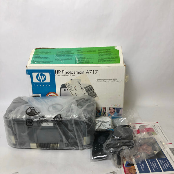 NEW OPEN BOX HP Photosmart A717 Compact Photo Printer 4GB Storage - Q7102A
