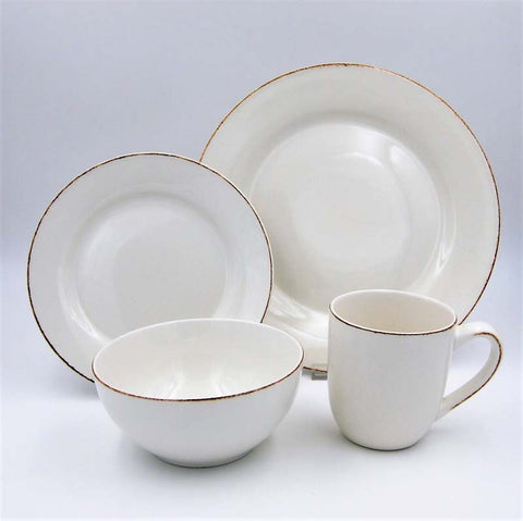 Dinner Set Stoneware Sonoma White 16pc