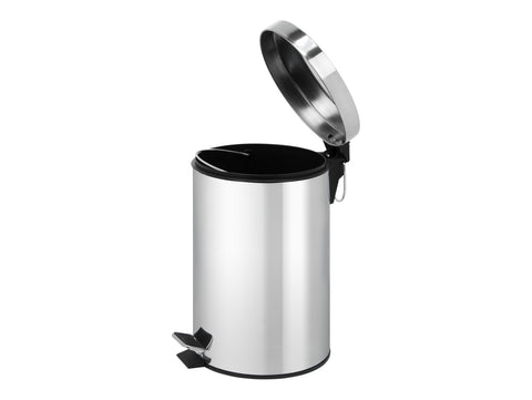 Croft 7L Pedal Bin Brushed Steel