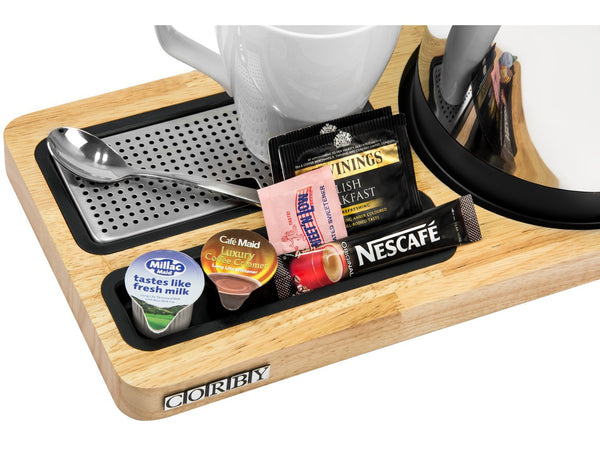 Buckingham Compact Welcome Tray Black/Light Wood