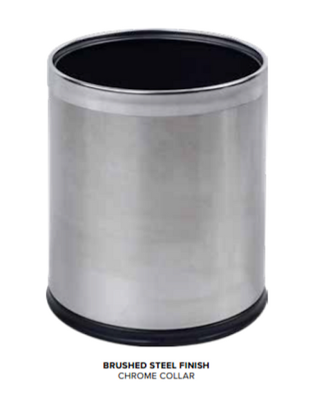 Thornton 9L Double Layer Bin Black/Brushed Steel