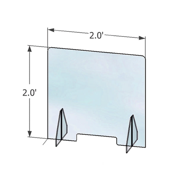 Single Face Acrylic Shield with Detachable Stand
