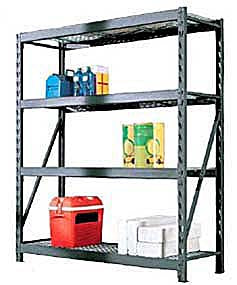 Industrial Rack with Wire Mesh Shelvings