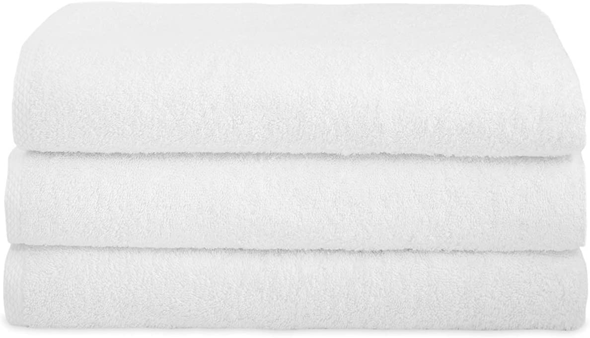White Bath Towel 25x50 450g  (Pack of 6 Units)